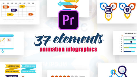 Infographics MOGRT vol.18 Motion Graphics Template