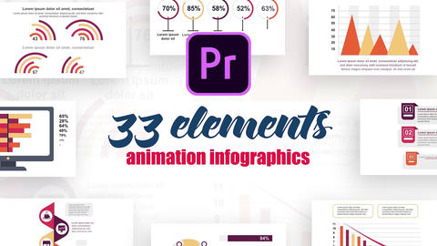 Infographics MOGRT vol.11 Plantillas de Motion Graphics