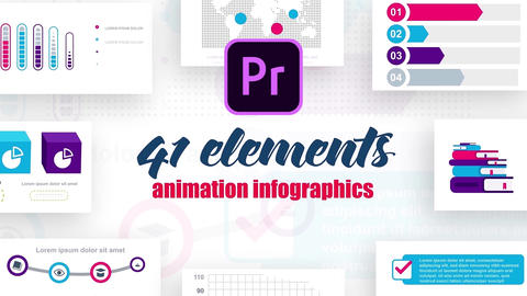 Infographics MOGRT vol.8 Motion Graphics Template
