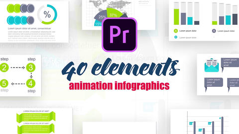Infographics MOGRT vol.19 Motion Graphics Template