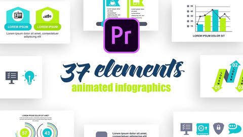 Infographics MOGRT vol.26 Motion Graphics Template