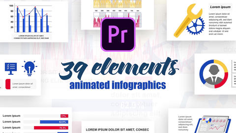Infographics MOGRT vol.23 Motion Graphics Template