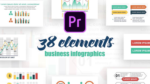 Infographics MOGRT vol.21 Motion Graphics Template
