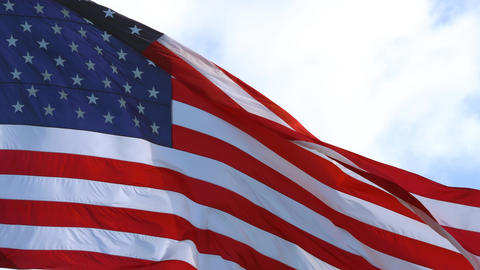 Video of the american flag flying in the wind, 4K Live Action