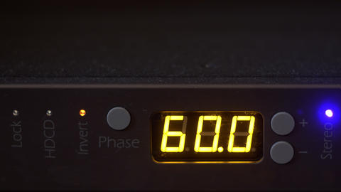 Close up view of display with volume counter Live Action