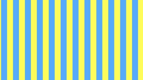 縦のストライプ 黄色と水色 線太い ループ CG動画