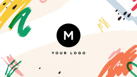 Hand Drawn Brush Tropical Logo After Effects Template