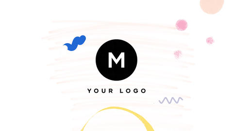 Hand Drawn Brush Minimal Logo Apple Motion Template