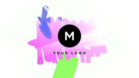 Hand Drawn Brush Logo Premiere Pro Template