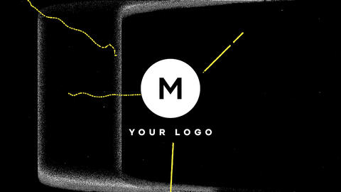 Scribble Grunge Distortion Logo Premiere Pro Template