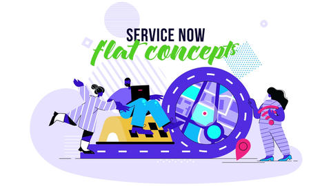 Service Now - Flat Concept After Effects Template