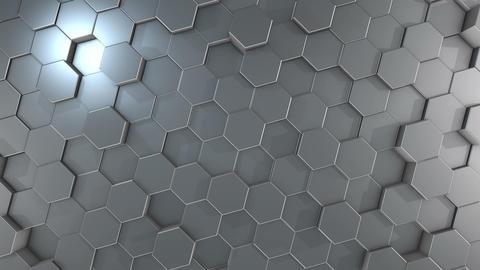 Hexagonal Geometric Aluminum Surface Animation