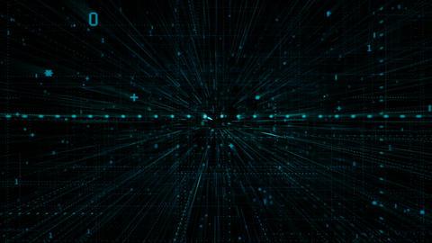 Digital Symbols Structure Animation