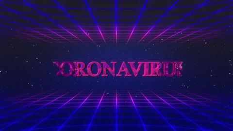 Retro game coronavirus GIF