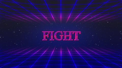 Retro game fight GIF