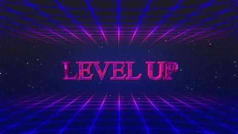 Retro game level up GIF