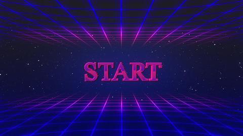 Retro game START GIF