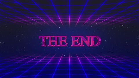 Retro game THE END GIF
