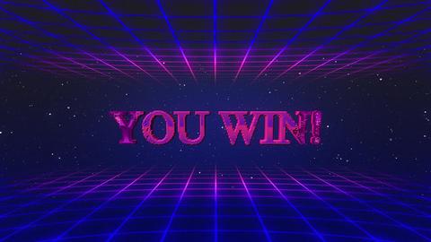 Retro game you win GIF
