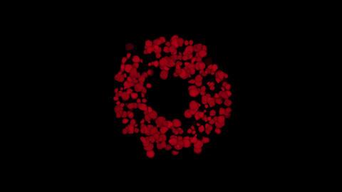 4k Rose petals wreath wedding Valentine's Day background Footage