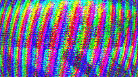 Glitched Distorted Colored Lines Grid Loop Runnig Vertical Background Animation