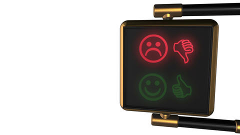 Looped animated background: 3d old-style golden street traffic light with altern CG動画素材