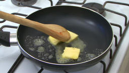 Cooking with pan Image