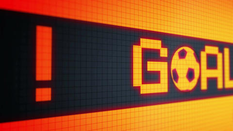 "Looped animated background with running lines - ticker with text ""goal !!!"" and  Animation"