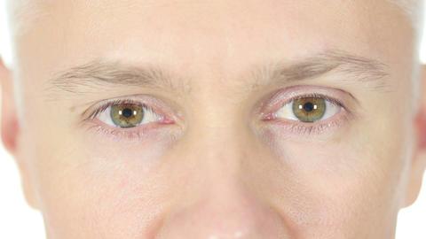 Close up of Man Eyes Footage