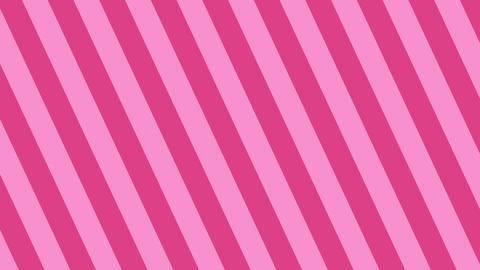 斜めのストライプ ピンク 太い ループ CG動画