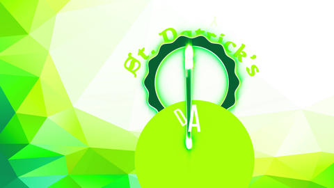 st patricks day ad with a green beer glassware with overflowing froth internal disk seal Animation