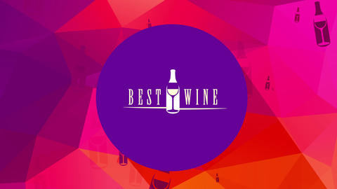 bar restaurant excellent wine list manipulation soft classical writing with luxury container and Animation