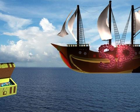 Simple Pirate Ship Modelo 3D