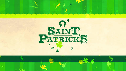 st patricks day festival ad cover with huge lettering manipulation shepherd typography with Animation