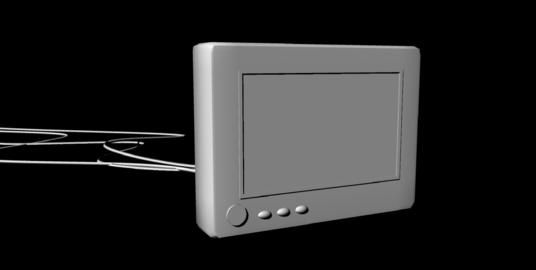 Display Monitor untextured 3Dモデル