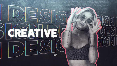 Kinetic Typography Slideshow After Effects Template