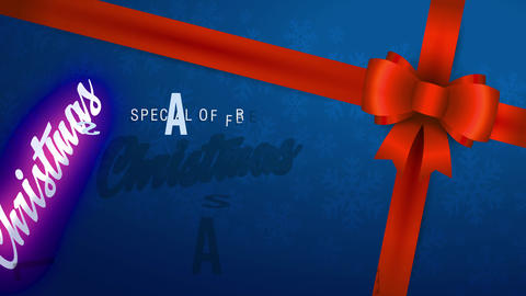 special proposal xmas sale written with combination of modern and classic offset on blue present Animation