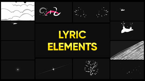 Lyric Elements And Scenes Apple Motion Template