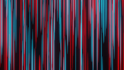Red Blue Abstract Meteor or Lightspeed in Space Move Through Camera Animation