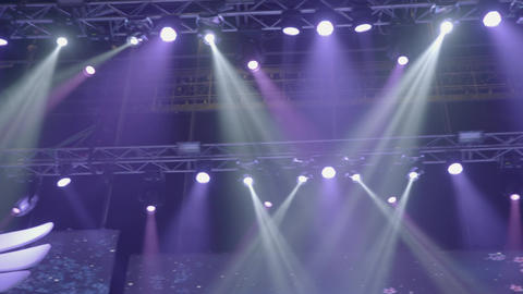Stage with lights. Stage lighting. Concert light Live Action