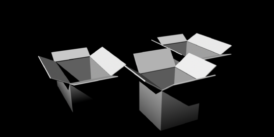 Cardboard Boxes untextured 3Dモデル