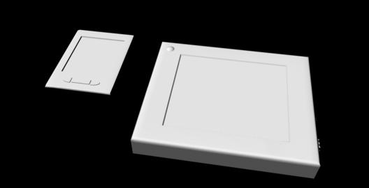 Sci-Fi Tablet Projector Gadgets untextured 3Dモデル