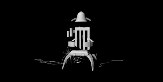 Sci-Fi Futuristic Chair untextured Modelo 3D