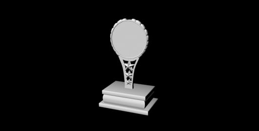 Art Trophy untextured 3D Model