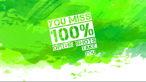 alcoholic drink publicity with text you miss 100 percent of the shots you dont drink written with Animation