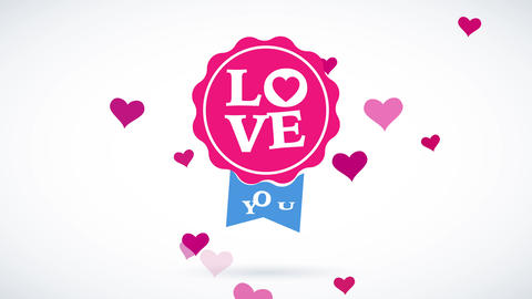 valentines day script with the words love yourself written on a circular pink similar towards a tag Animation