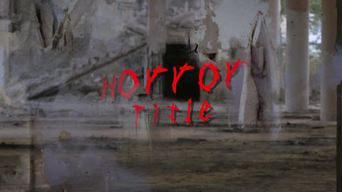 Horror Title Op After Effects Template