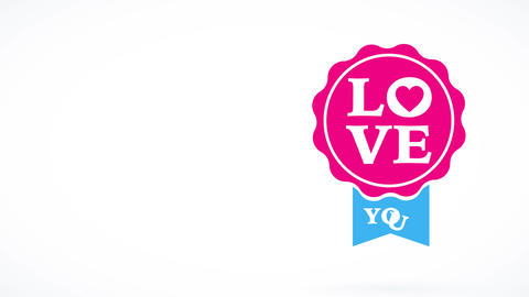valentines day script with the words romance yourself written on a circular pink similar to a seal Animation