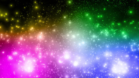 rainbow particle Galaxy star space loop background animation Animation