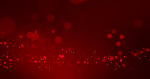 abstract christmas gradient red background with red bokeh flowing, valentine day love relationship Live Action